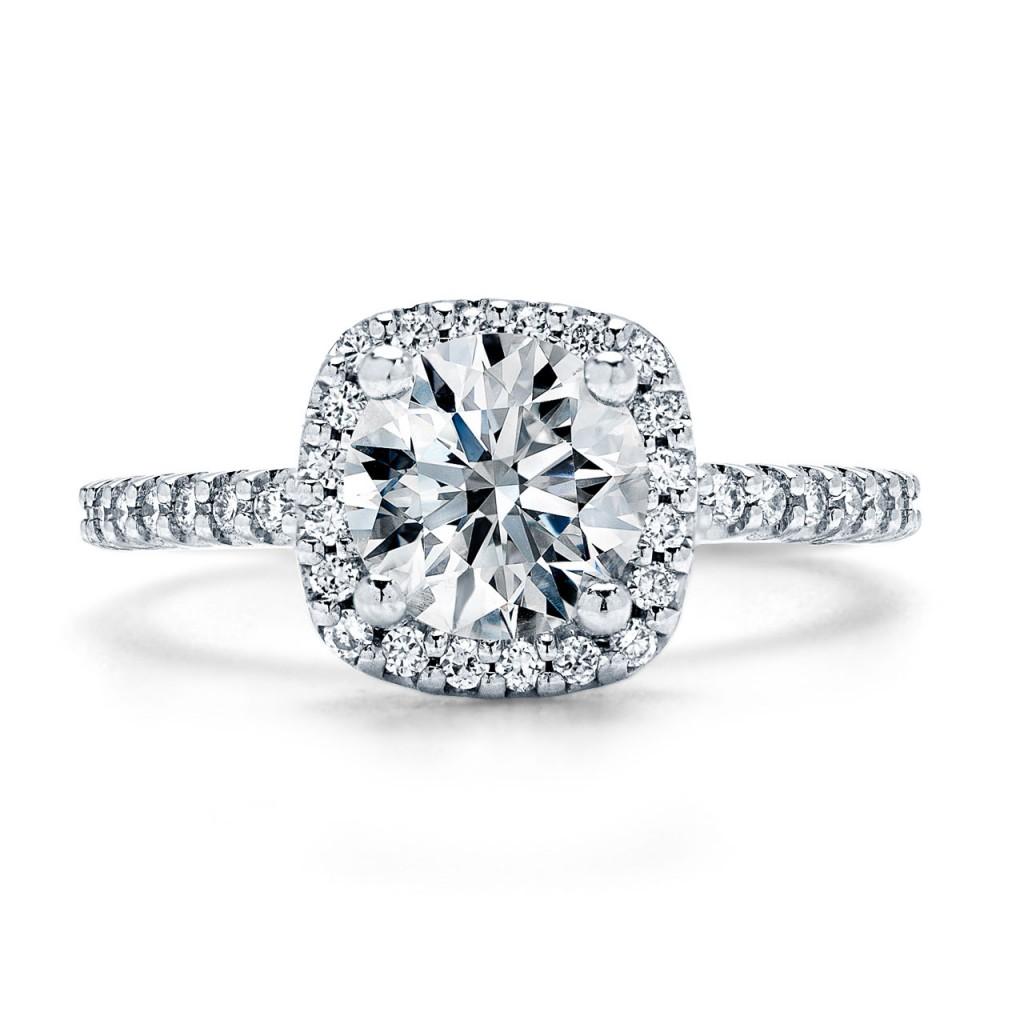 Ragazza Face Simple Elegant Diamond Engagement Ring